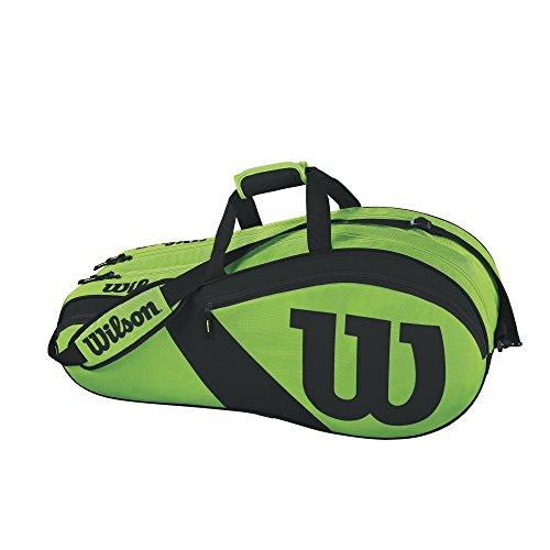 Wilson Match III 6 Pack Tennis Bag, Green/Black