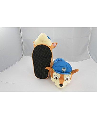 Paw Patrol Kinder Hausschuhe Größe 29-31 Plüschfigur Chase Die Hundepolizei Pantoffeln Slippers