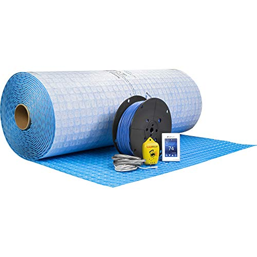 SunTouch WarmWire (120V) Floor Heat Kit, 100 sq ft Cable with Optional Prodeso Uncoupling Membrane (WarmWire with Prodeso Uncoupling Membrane)