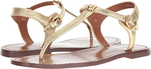 Coach Women's T-Strap Sandal Gold Metallic Leather 8 M ()