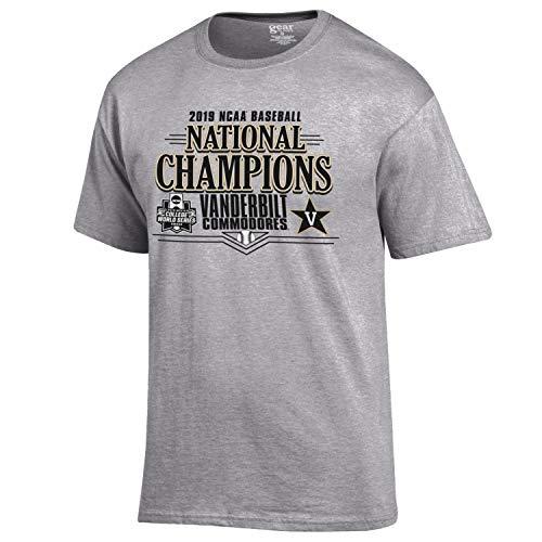 Gear for Sports Vanderbilt Commodores 2019 College World Series Champs Locker Room T-Shirt (M)