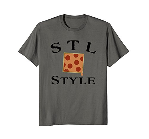 STL St Louis Style Pepperoni and Provel Square Pizza T-Shirt