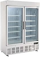 Congelador de pantalla polar con caja de luz 920 litros para restaurante comercial