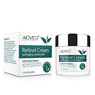 Anti Aging Retinol Cream for Face - Natural Moisturizer Cream with Hyaluronic, 2.5% Active Retinol and Multiple vitamins for Face, Neck and Décolleté Skin Care, Wrinkle Cream for Women and Men