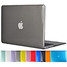 "TOPIDEAL Crystal Hard Shell Case Cover for 11-inch MacBook Air 11.6"" (Model A1370 / A1465) - Gray"