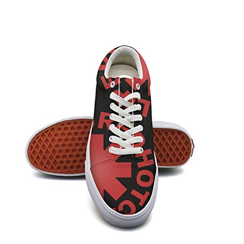SPHAT Men's Creative-Design-Red-Hot-Chili-Peppers- Canvas Shoes Old School Sneakers (Rock Brothers Jonas)