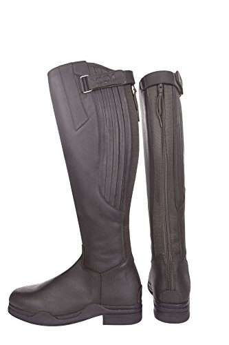 Leather Black Riding Horse Long Boots Country Yard Out 39 Mucking Water HKM Proof TxqBCpEa