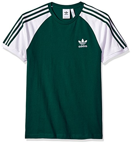 - adidas Originals Men's Originals 3 Stripes Tee, Collegiate Green, M