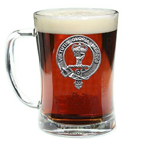 Beer Scottish (Robertson Scottish Clan Crest Badge Glass Beer Mug)