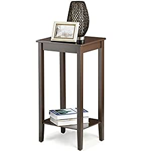 Topeakmart Wood Coffee Table Tall Bedside