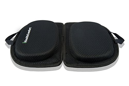iHealthComfort3 in 1 Folding Cooling Gel Memory Foam Seat Cushion & Lumbar Support Large Orthopedic Tailbone Pillow Instant Relief from Lower Back Pain