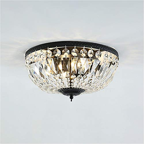SUSUO K9 Crystal Ceiling Light Flush Mount Modern 4-Light Crystal Chandelier for Bedroom, Hallway, Bar, Kitchen, Bathroom - W14