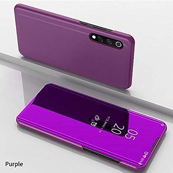Funda para Xiaomi Mi 9 Estuche Espejo Elegante Cover de Función Inteligente Case para Dormir Despertar Vista Inteligente Carcasa para Xiaomi Mi 9(Rosa púrpura): Amazon.es: Electrónica