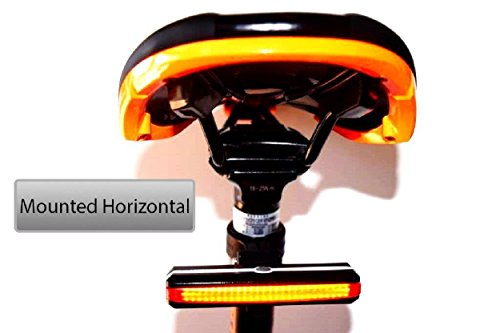 Go Bright USB Rechargeable RED Bicycle Tail Light, 168 Lumens, High Intensity Rear Bike light, Fits on any Road Bike, Mountain Bike and Helmets. Easy to install with Flashing Safety Mode