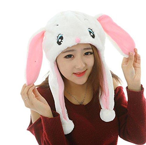 Dalino Creative Cute Cartoon Performance Headwear Plush Animal Headgear (White Rabbit) by Dalino (Image #6)