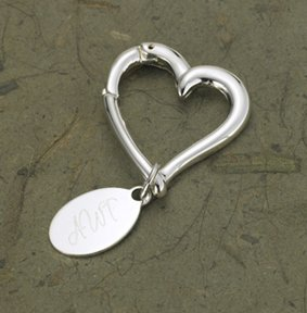 JDS Marketing and Sales BL637 Heart Keychain with Oval Tag by JDS MARKETING & SALES