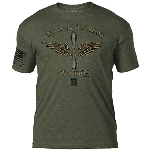 7.62 Design Army 'Aviation' Men's T-Shirt Heather Military -