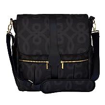 JJ Cole Backpack Diaper Bag, Black and Gold