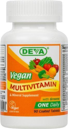 Deva Vegan Vitamines quotidienne d'une multivitamine et un supplément minéral 90 comprimés (lot de 2)
