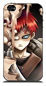 KroomCase Naruto Gaara Cases Covers for iPhone 4 4S