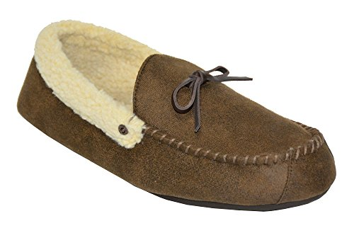 Signature Levi Strauss & Co Men's Slipper Aviator (M(9/10), Brown)