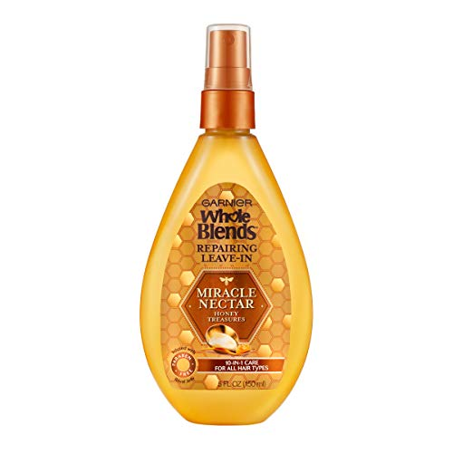 Garnier Hair Care Whole Blends Leave-in Miracle Nectar Honey Treasures Leave-In Treatment, 5 Fl. Oz (Pack of 1) (Best Leave In Conditioner For Color Treated Hair)