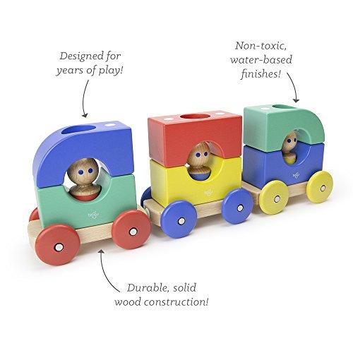 Tegu Tram Building Blocks (12 Piece) Big Top , One Size (Amazon Exclusive)
