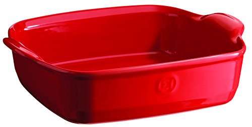 Emile Henry France Ovenware Ultime Square Baking Dish, Burgundy