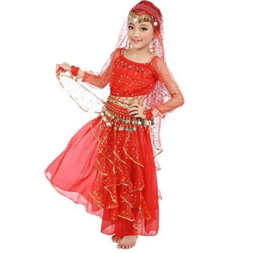 Maylong Girls Long Sleeve Arabian Princess Dress up Halloween Costume DW49 (Large, -