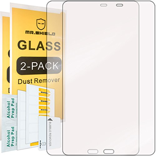 2-PACK-Mr-Shield-For-Samsung-Galaxy-Tab-A-101-Inch-2016-Tempered-Glass-Screen-Protector-03mm-Ultra-Thin-9H-Hardness-25D-Round-Edge-with-Lifetime-Replacement-Warranty