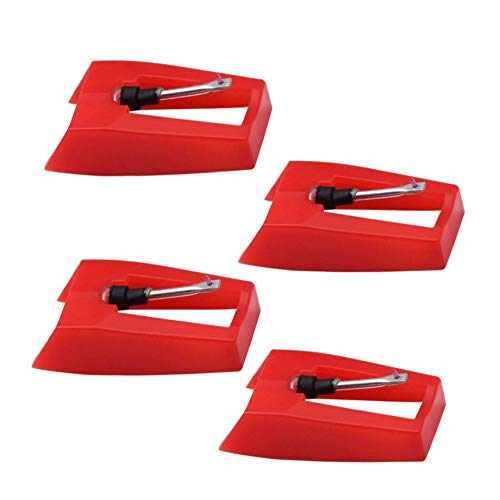 4 Pack Diamond Record Player Needle Turntable Stylus Replacement for ION Jenson Crosley Victrola Sylvania Turntable Phonograph LP Vinyl Player More brand