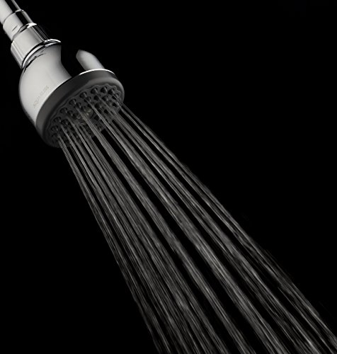TurboSpa 3 Inch High Pressure Shower Head w/Flow Restrictor Melts Stress into Bliss at Full Power. 42 Nozzle Wide Spray High Flow Showerhead Drenches You Fast, No Dry Spots Guaranteed - Chrome by AquaBliss (Image #6)