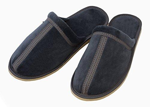 por MB51 BeComfy casa Confortables para Zapatillas Estar de Pantuflas Suaves Ligeras Azul emparejado Algodón de Hombre ax6xIw