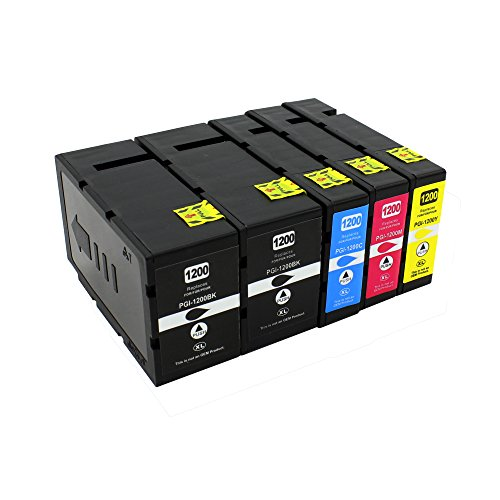 Big Dew 5PK PGI-1200XL 1200 XL Compatible Ink Cartridges For Canon MAXIFY MB2020 MB2320 MB2120 MB2720