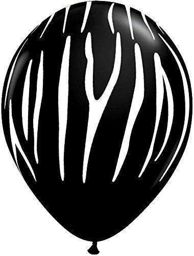 Pioneer Balloon Company 12467 ZEBRA STRIPES (WHITE) - ONYX BLACK 11