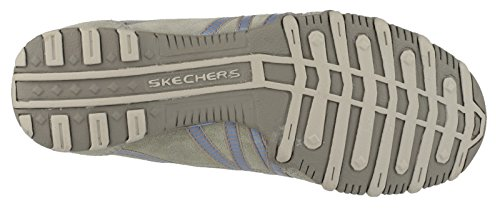Skechers Slip-On Lined Womens Shoes - Taupe/Blue - Size 3 4 5 6 7 8 Taupe/Blue