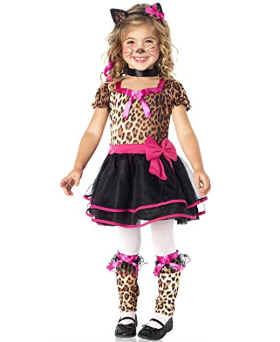 [Leg Avenue C21033 Pretty Kitty Halloween Costume - Leopard -2T-3T] (Original Toddler Halloween Costumes)