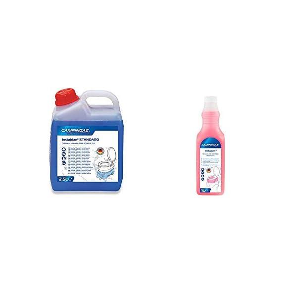 414nN9Qco L Campingaz Instablue Standard 2.5 Liter Sanitärflüssigkeit für Abwassertank der Campingtoilette, Sanitärzusatz für…