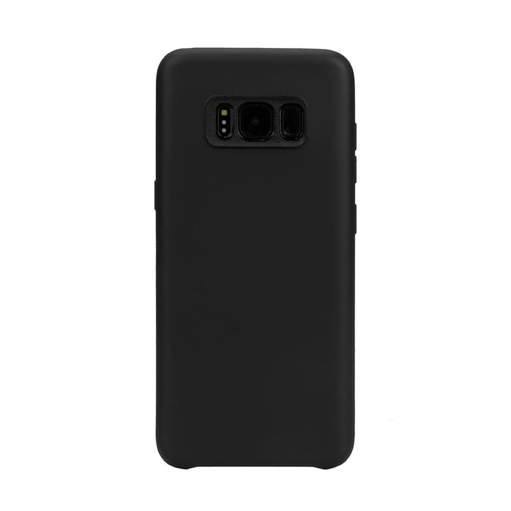TOOPOOT For Galaxy S8 Plus 6.2inch Soft TPU Protective Case Cover (black)