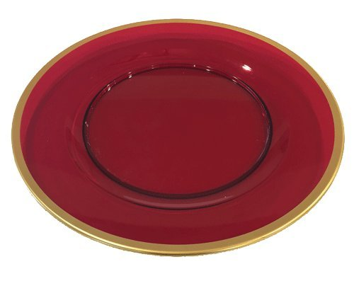 Gold Charger Plates Gold Rim Charger Plate Red Bottom Set 4 12'' Round by Caspari