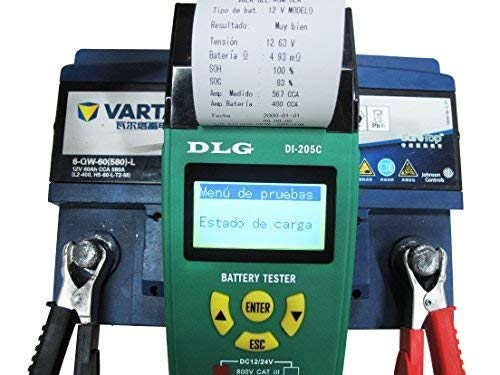 DLG DI-205C 12V 24V Automotive Truck Battery Tester Checking CCA/SOH/Internal Resistance/Starting System/Charging System/Maximum Load System Printer English Spanish Interface by DLG (Image #3)
