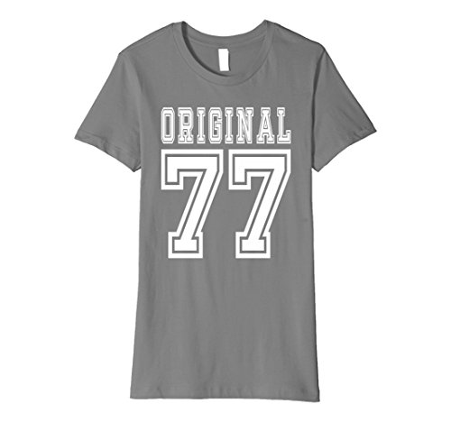 Women's 40th Birthday Gift 40 Year Old Present Idea 1977 T-Shirt F Medium Slate