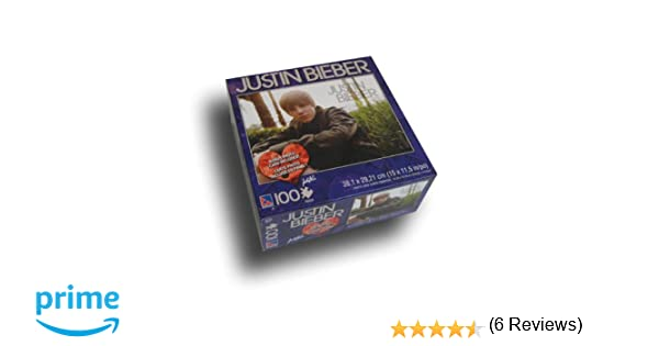Amazoncom Justin Bieber 100 piece Puzzle with Bonus Card Toys