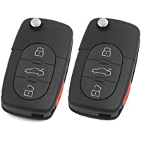 2 Brand New Remote Flip Key Fob Keyless Entry Remote Uncut for Audi