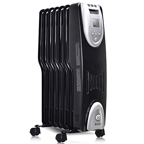 COSTWAY Oil Filled Radiator Heater Portable...