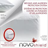 NOVOshield Durable Bed Bug and Allergen Protection System With 3 Sided Easy Opening And Soft terry Cloth Surface PLUS Breathable Waterproof Membrane - Queen Size
