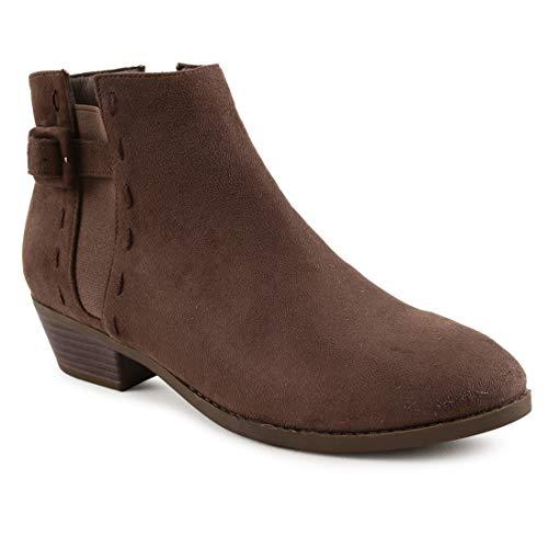 Buckled Up Dark Brown Suede Boots – 38