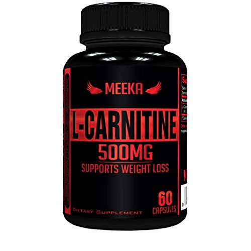 Meeka Nutrition L-Carnitine 500 MG Weight Loss Supplement 60 Capsules - Metabolism Booster - Healthy Heart - Immune System Support