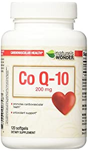 Nature's Wonder COQ10 200mg Nutritional Supplement, 120 Count