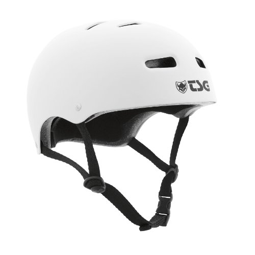TSG Helm Skate BMX Solid Colors, Flat-White, L/XL, 75040